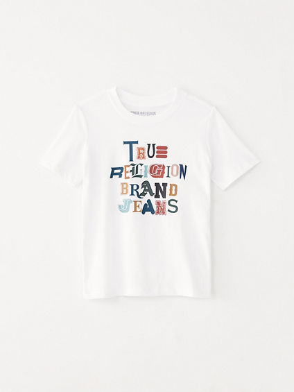 GIRLS MIXED UP LOGO TEE