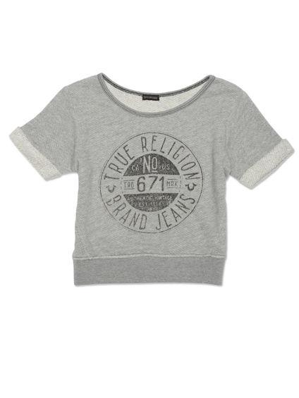 Stamp Raglan Toddler Girls Sweatshirt