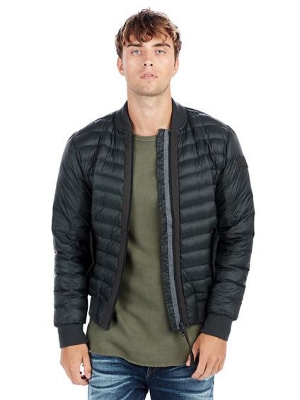 MENS PUFFY BOMBER JACKET