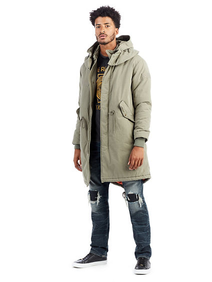 True religion sherpa parka