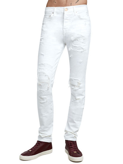 ROCCO DESTROYED SKINNY MENS JEAN