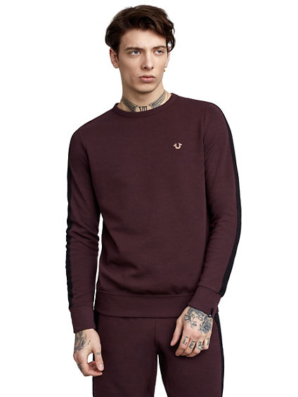 CREW CONTRAST STRIPE MENS SWEATER