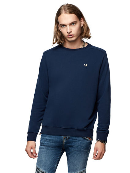 SOLID CREWNCK SWEATSHIRT