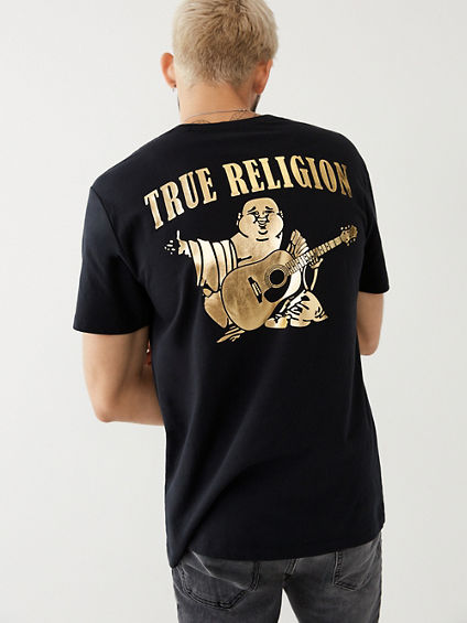 GOLD BIG BUDDHA LOGO MENS TEE