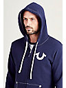 MENS FLOCKED BUDDHA ZIP UP HOODIE