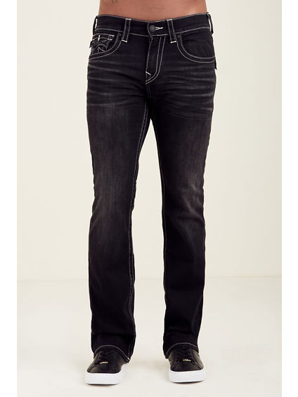 STRAIGHT FLAP BLACK MENS JEAN