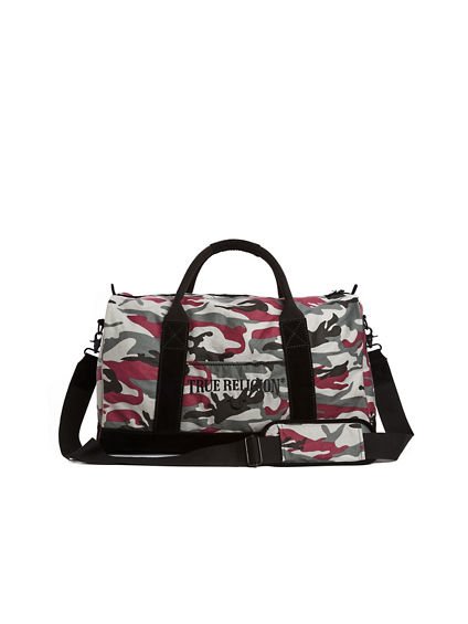 MENS CAMO DUFFLE BAG