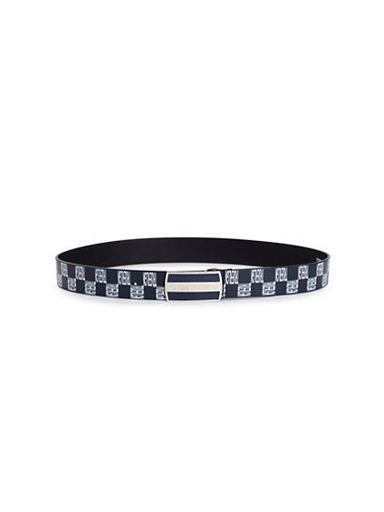 MENS CHECKER PRINT BELT