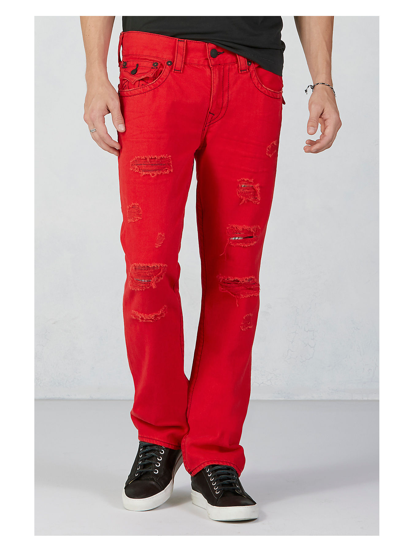 mens red jeans near me