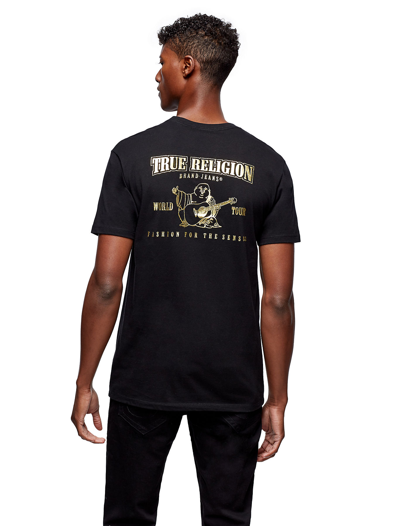 2eafe52fd MENS METALLIC GOLD BUDDHA PUFF TEE