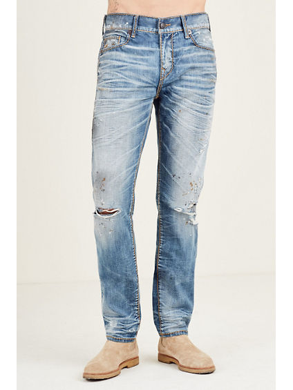 SKINNY FIT CABLE STITCH JEAN
