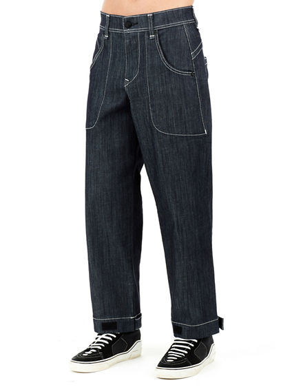MENS URBAN PATCH POCKET BAGGY JEAN
