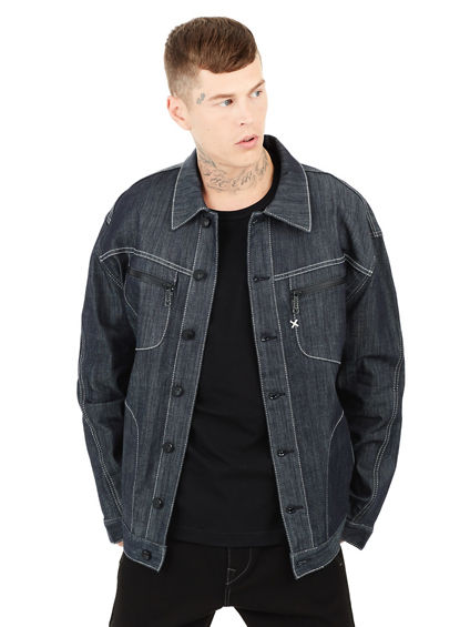 MENS URBAN BAGGY DENIM JACKET | Tuggl
