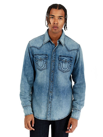 LS DENIM MENS SHIRT