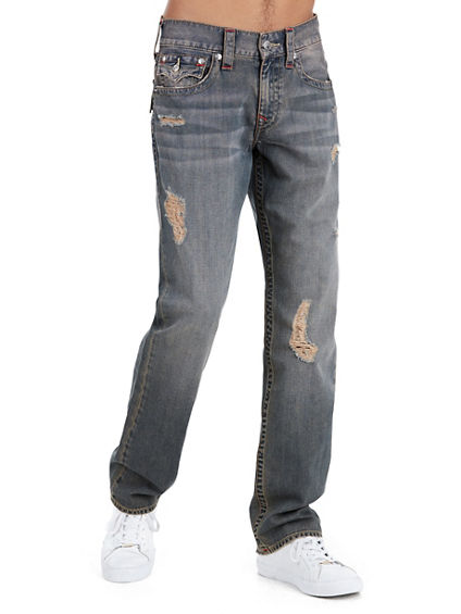 STRAIGHT FLAP RED STITCH MENS JEAN