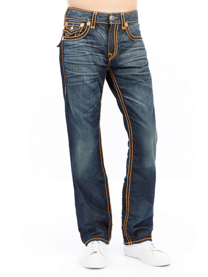 STRAIGHT FLAP RED ORANGE ROPE MENS JEAN