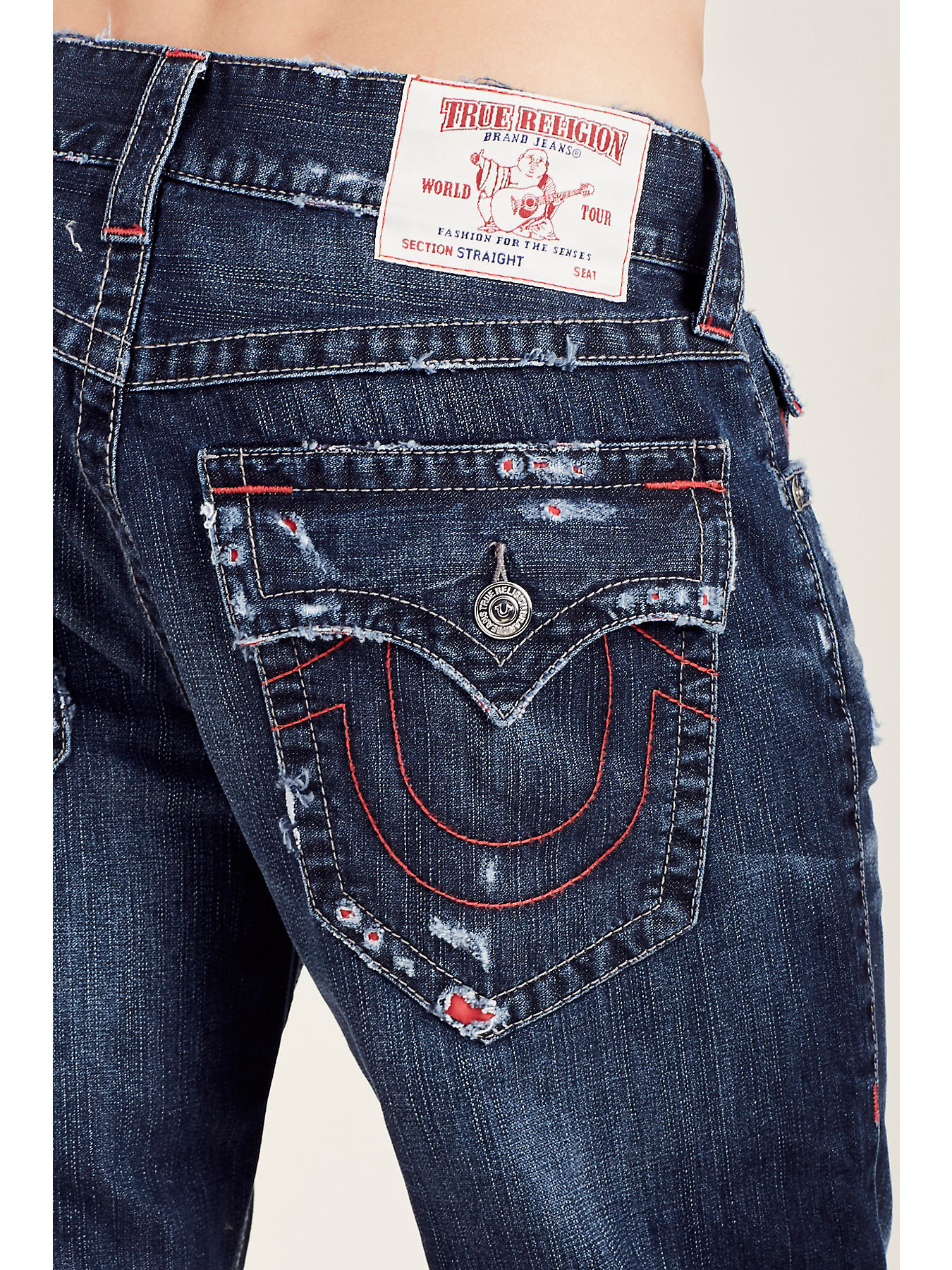 9e97bd40c STRAIGHT FLAP RED STITCH MENS JEAN - True Religion