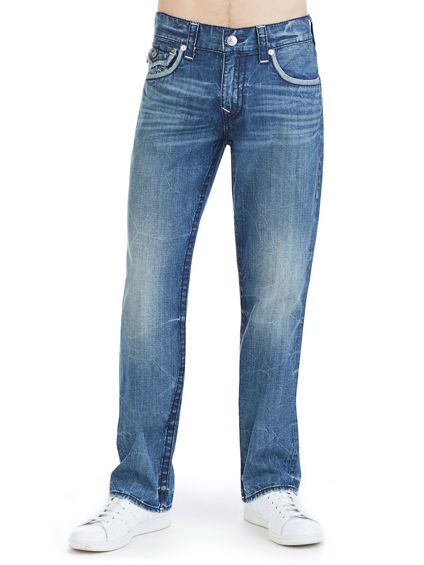 STRAIGHT FIT NATURAL STITCH  JEAN
