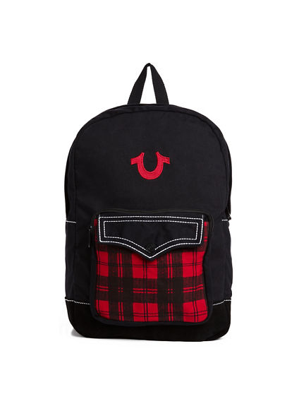 MENS PLAID BACKPACK