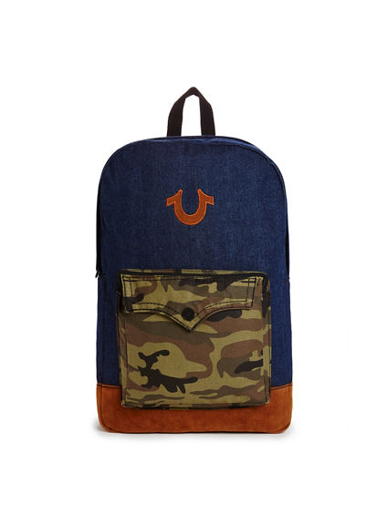 DENIM CAMO MENS BACKPACK