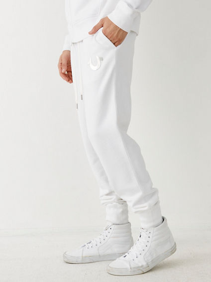 METALLIC DOUBLE PUFF CUFFED MENS SWEATPANT
