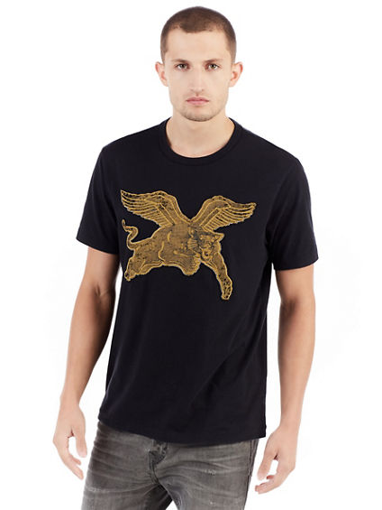 MENS MYTHICAL PANTHER GRAPHIC TEE