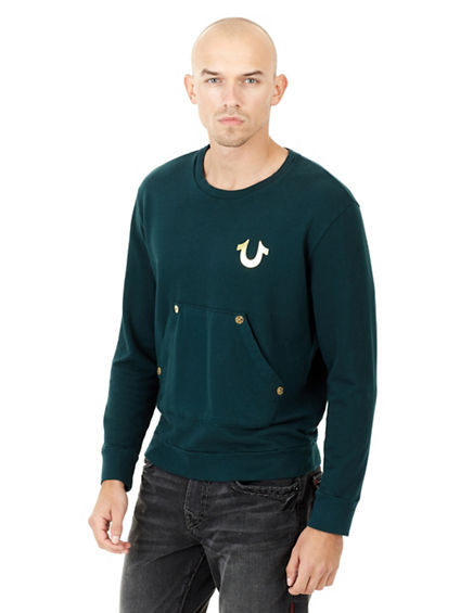 CORE METALLIC PULLOVER CREW NECK MENS TEE