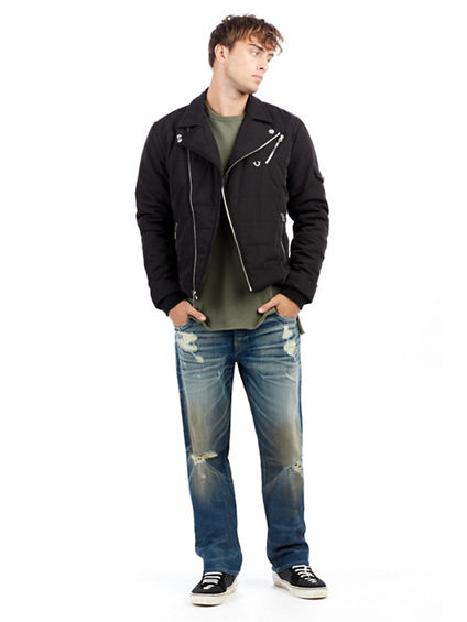 MENS QUILTED MOTO JACKET