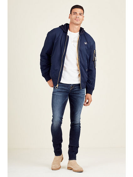 LIGHT HOODED MENS BOMBER JACKET