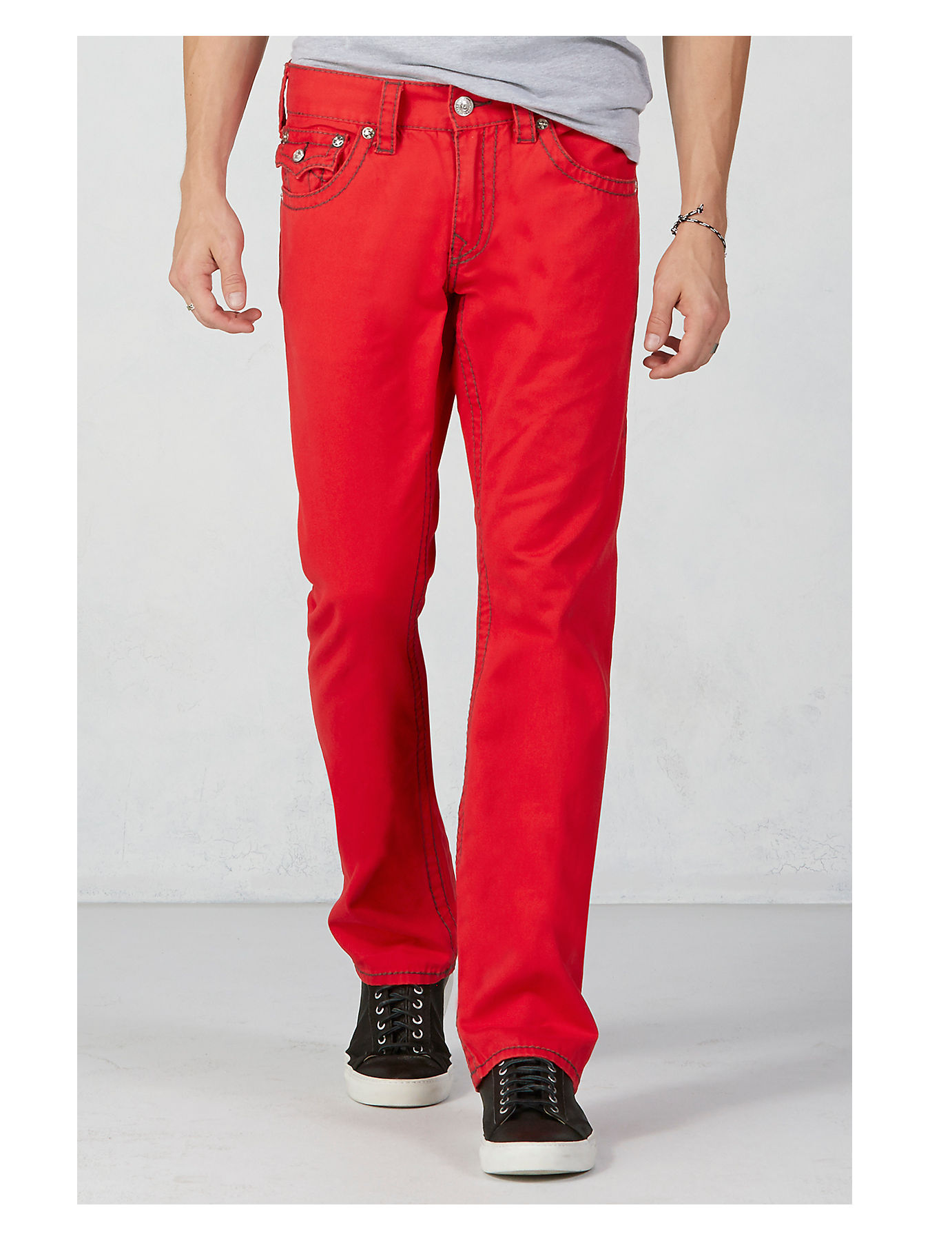 6a36520ef HAND PICKED RICKY STRAIGHT MENS RED PANT - True Religion