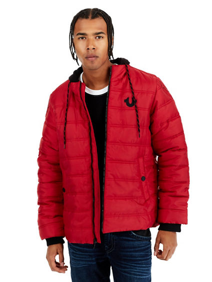 HOODED PUFFER MENS JACKET