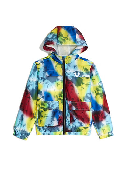 BOYS TIE DYE WINDBREAKER
