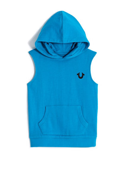 BOYS SLEEVELESS PULLOVER HOODIE