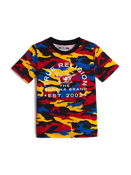 BOYS ALLOVER PRINT CAMO TEE