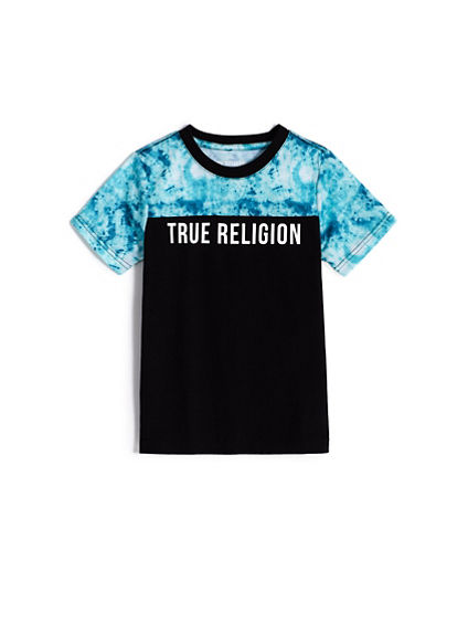 BOYS COLORBLOCK TIE DYE TEE