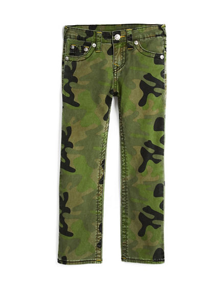 STRAIGHT FIT BIG T CAMO PANT