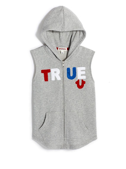 BOYS TRUE SLEEVELESS ZIP HOODIE
