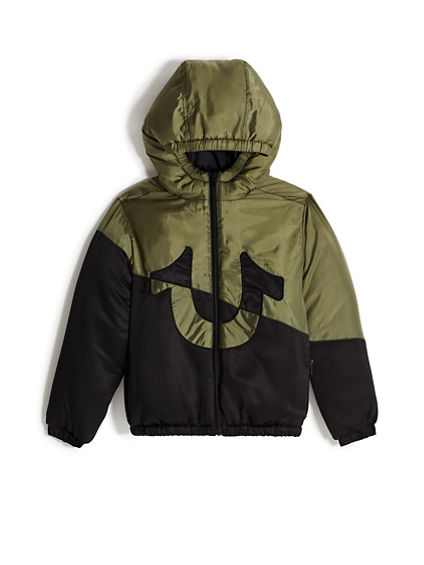 BOYS HOODED PUFF JACKET