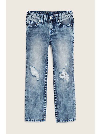 STRAIGHT FLAP RIPPED KIDS JEAN