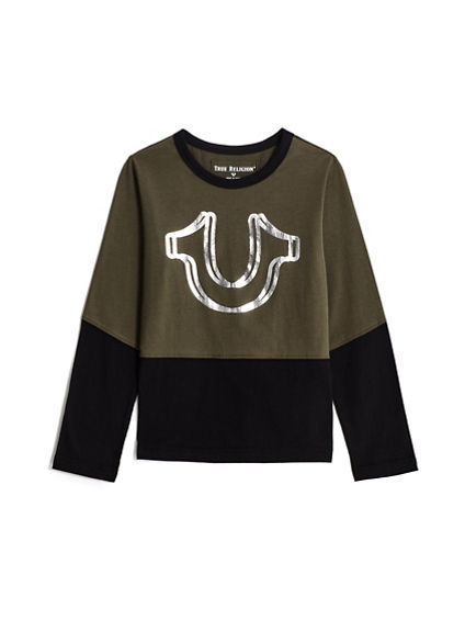 BOYS LONG SLEEVE LOGO TEE