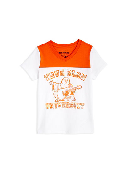 BIG KIDS HALF AND HALF TEE