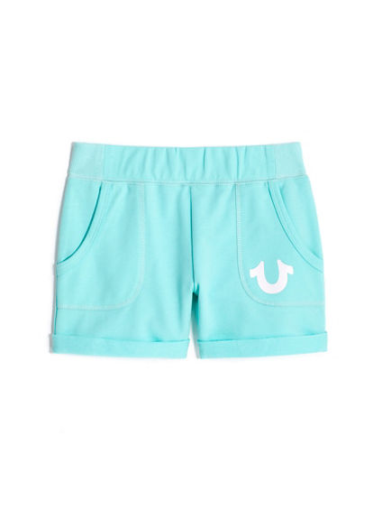 GIRLS KNIT LOGO SHORT