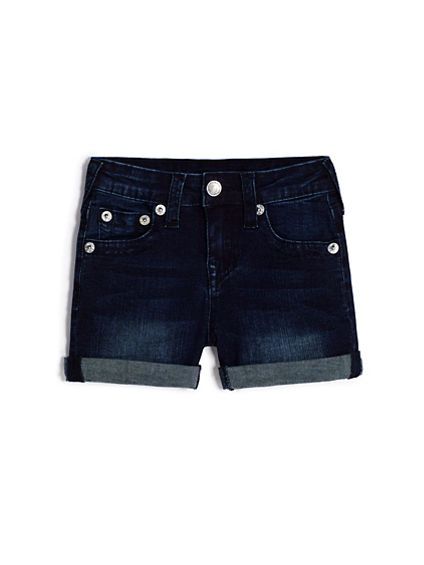 GIRLS BOY FIT JEAN SHORT