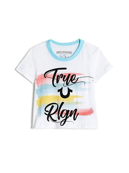 GIRLS PAINT STRIPE TEE