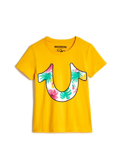 BIG KIDS TROPICAL HORSESHOE TEE