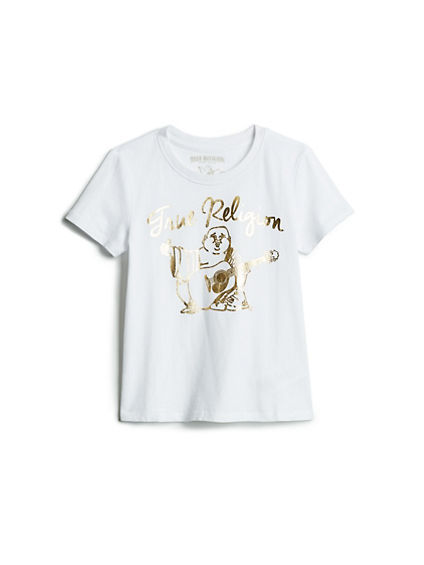 GIRLS GOLD BUDDHA TEE