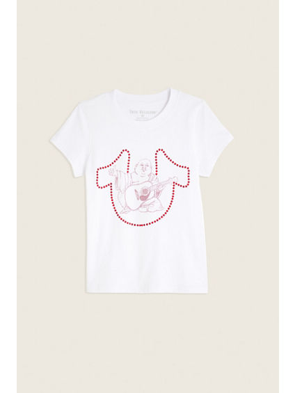 PINK HORSESHOE KIDS TEE