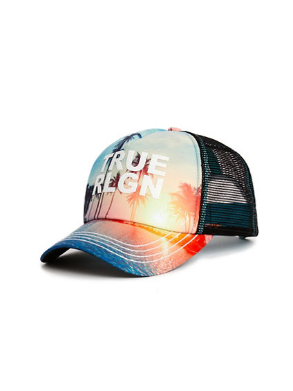 MENS SUNSET TRUCKER HAT