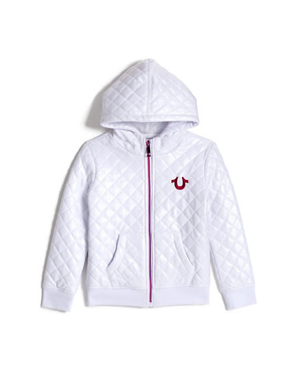 GIRLS QUILTED HOODIE