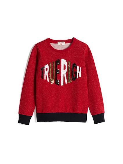 GIRLS CREWNECK SWEATSHIRT